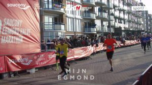 Egmond halve marathon finish